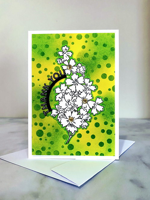 Bright Floral Thank You Card