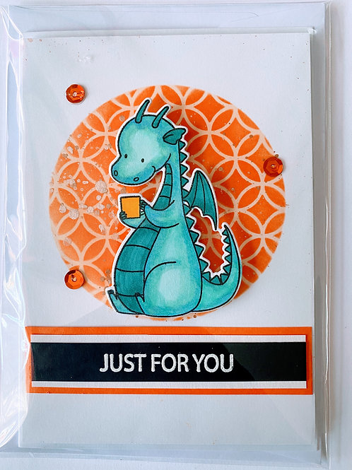 Just For You Dragon Reading Card