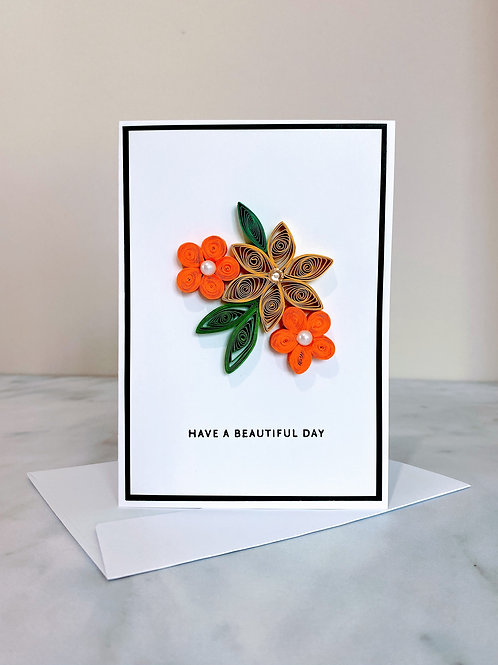 Quilled Beautiful Day Card