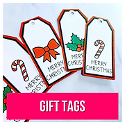 Printed Christmas gift tags