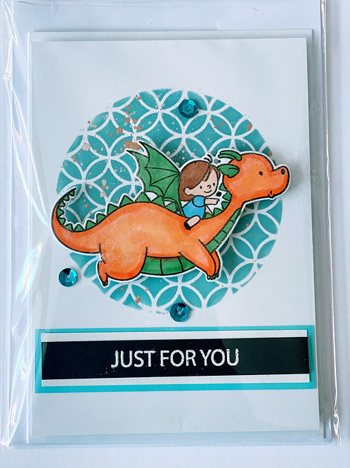 Just For You Flying Dragon Critter Card