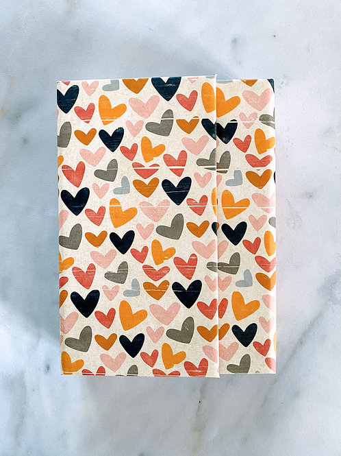 Hardcover Refillable Notebook - Hearts