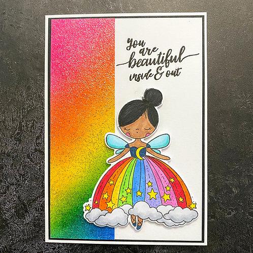 Beautiful Rainbow Girl Card