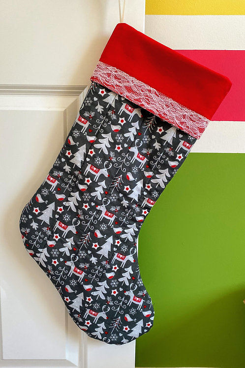 Giant Quilted Christmas Stocking