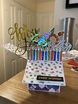 Personalised handmade birthday box card
