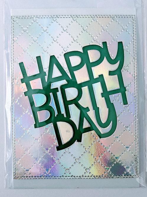 Happy Birthday Card - Holographic