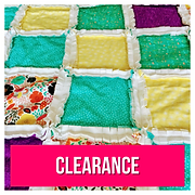 Bright quilted rag blanket