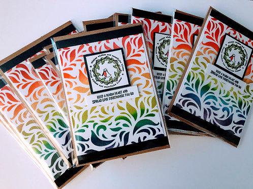 Rainbow Swirly Christmas Cards