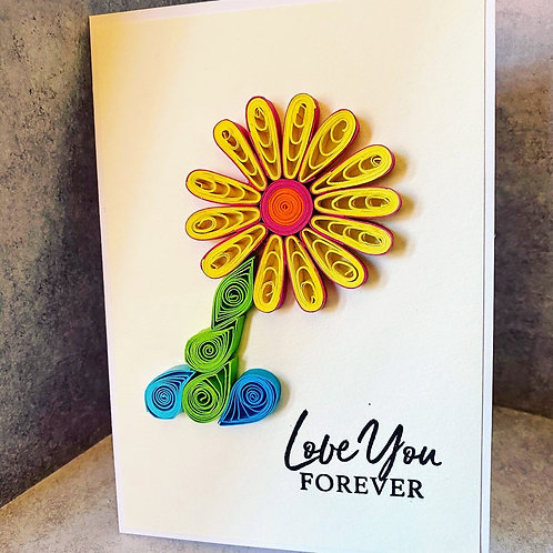 Quilled Love You Flower