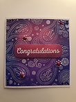 Custom handmade congratulations card