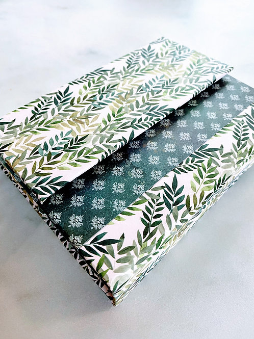 Hardcover Refillable Notebook - Leaves