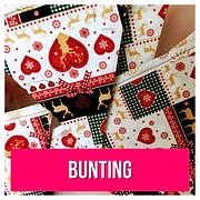 Cotton Christmas bunting