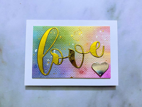 Watercolour Love Card