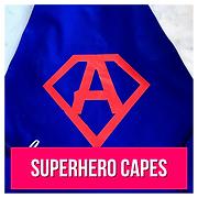 Blue superhero cape with A