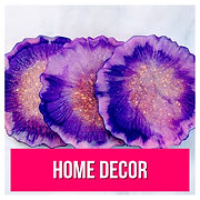 Purple agate coasters