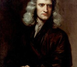 The answer is SIR ISAAC NEWTON. What was the question?