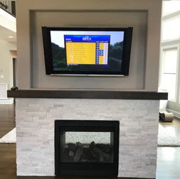 Double Sided Fireplace TV on Both Sides  (Side 1)