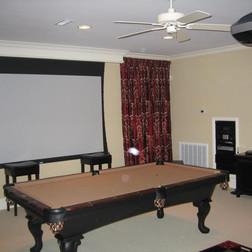 Media Room with Drop Screen