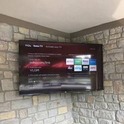 TV Install on Stone