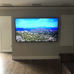 Media Room with In-ceiling Triads