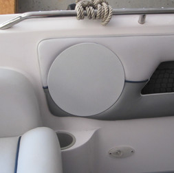 Custom Triad Speaker Install in Boat (With Cover)