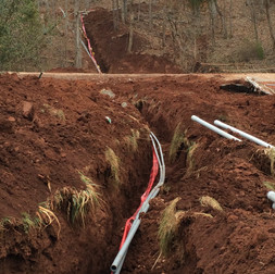 Conduit Running from Road to House #2
