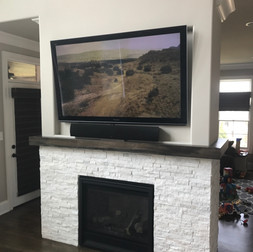 Double Sided Fireplace TV on Both Sides  (Side 2)
