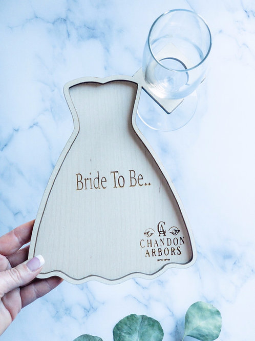 Bride to Be Board w/Champagne Glass Holder