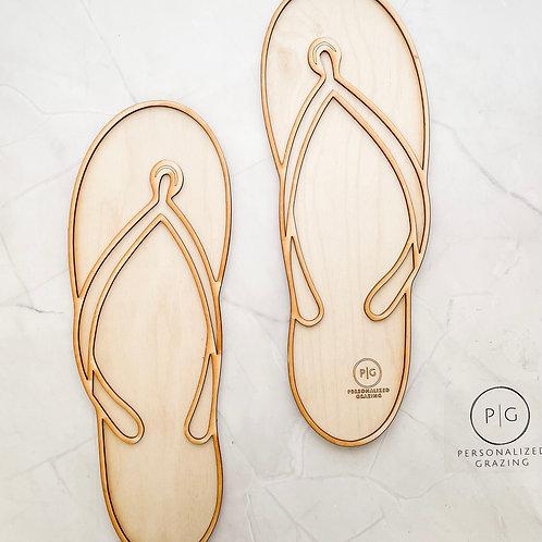 "Flip Flops ""Summer Fun"" Charcuterie Board"