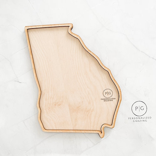 Georgia State Charcuterie Board