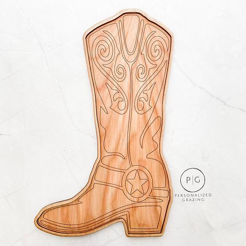 Texas Cowboy Boot Charcuterie Board