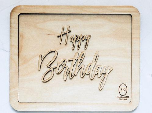 Happy Birthday Charcuterie Board
