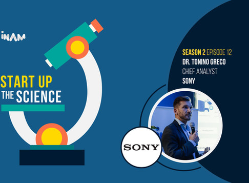 Dr. Tonino Greco of Sony on Start Up the Science Podcast!