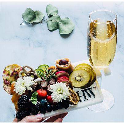 Champagne Realtor Acrylic Grazing Charcu