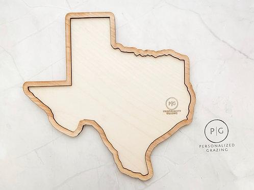 Texas Shaped Grazing Charcuterie Board