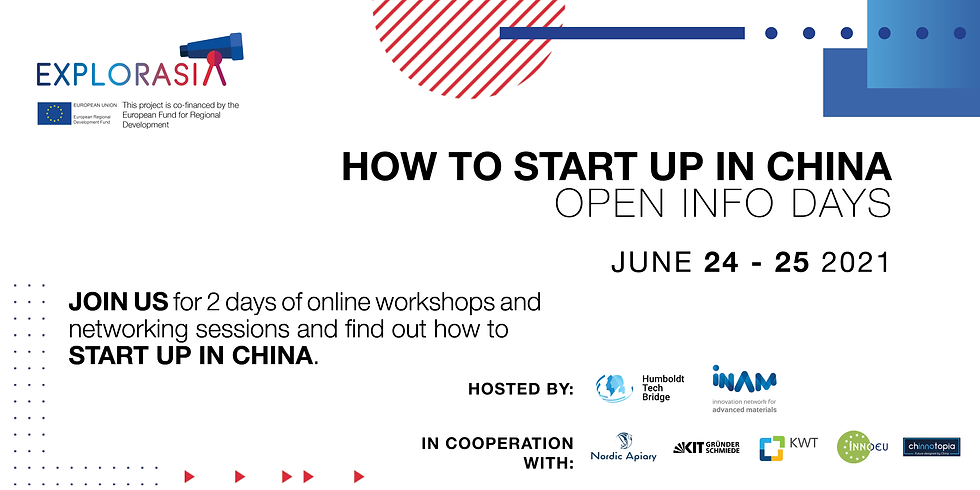 ExplorAsia: How to Start Up in China - Open Info Days
