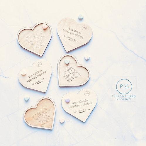 Conversation Heart Micrograzers set of 6