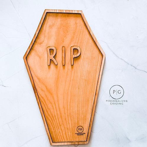 RIP Coffin Halloween Grazing Board