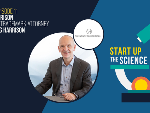 Robert Harrison talks IP Strategy on Start Up the Science Podcast