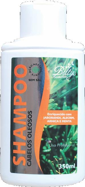 Shampoo Para Cabelos Oleosos de Jaborandi, Alecrim, Arnica e Menta