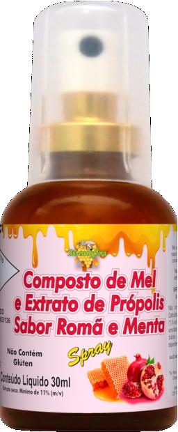 Composto de Mel e Extrato de Própolis Sabor Romã e Menta
