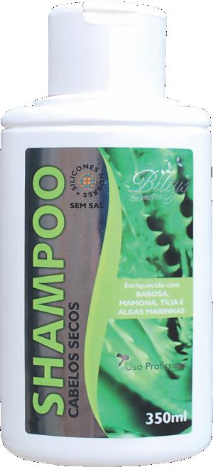 Shampoo Para Cabelos Secos de Babosa, Mamona, Tília e Algas Marinhas
