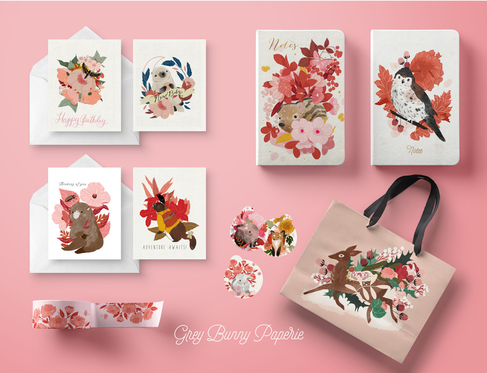 Grey Bunny Paperie Products