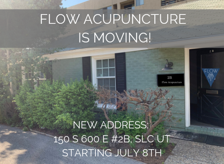 FLOW ACUPUNCTURE IS MOVING!