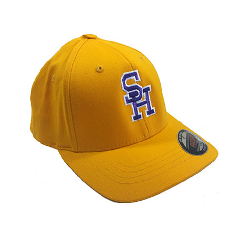 Gold SH Hat with Purple & White Embroidery