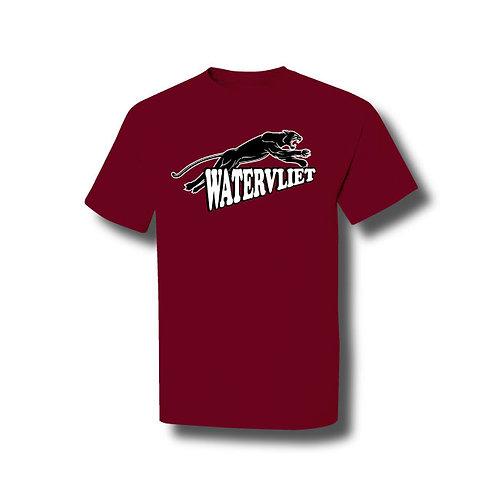 Watervliet Panthers Cotton T-Shirt - Maroon