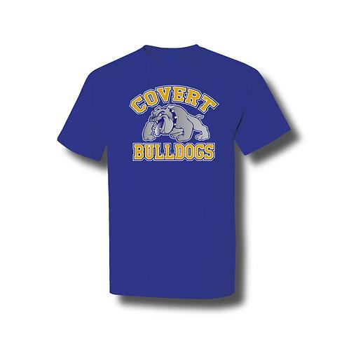 Covert Bulldogs Cotton T-Shirt - Royal