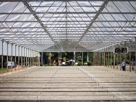 Medicinal cannabis farm allows rare glimpse into construction at secret Queensland location
