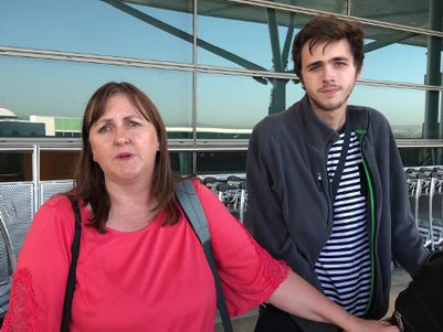 Lindsay Carter arrives back from Canada with supply of medicinal cannabis