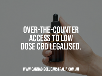 Over-the-counter access to low dose (CBD) cannabidiol approved